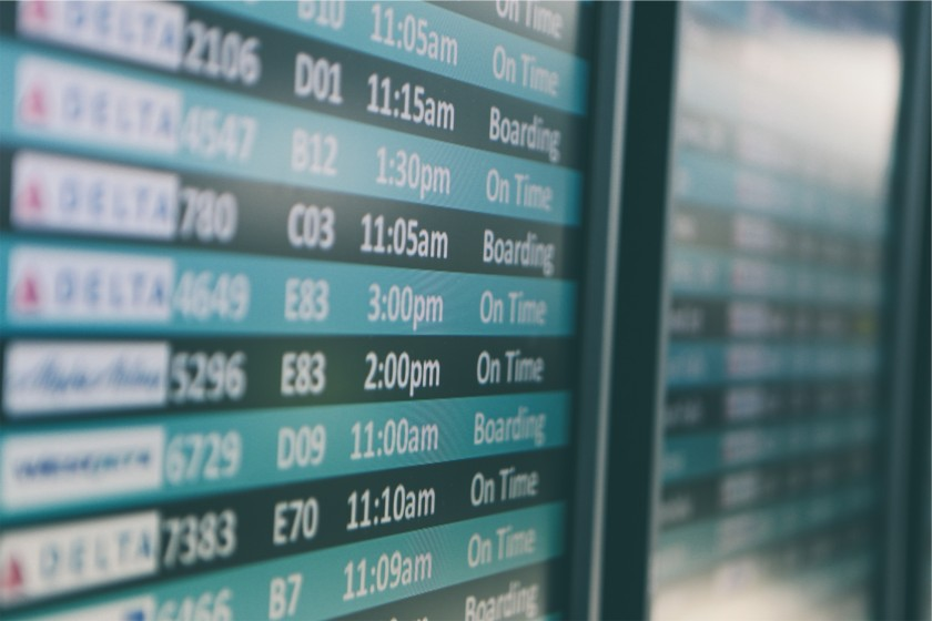 prendre l avion pour voyager