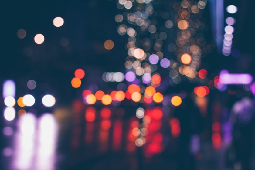 Lumière de ville floues